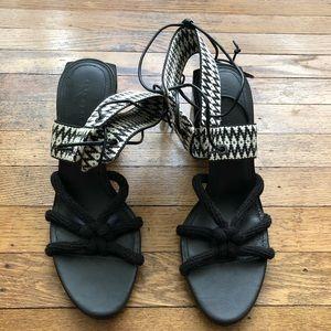 Zara Block Hee Sandals - Size 40